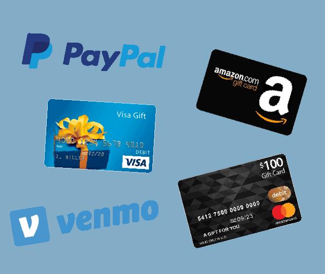 amazon rebates gift card paypal venmo